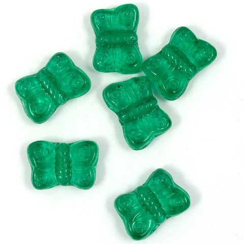 8mm Emerald Glass Butterfly-General Bead