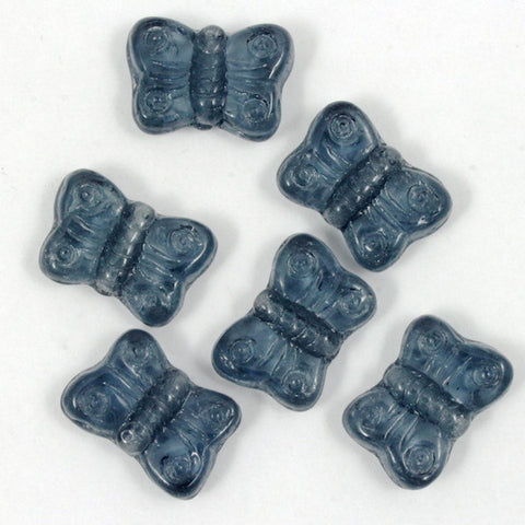 8mm Montana Glass Butterfly-General Bead