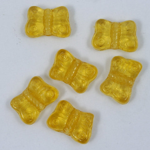 8mm Topaz Glass Butterfly-General Bead