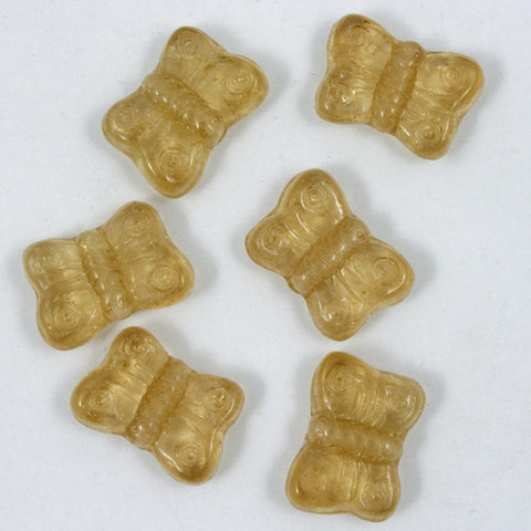 8mm Light Colorado Topaz Glass Butterfly-General Bead