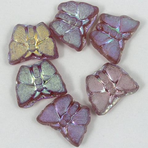 8mm Matte Light Amethyst Glass Butterfly-General Bead