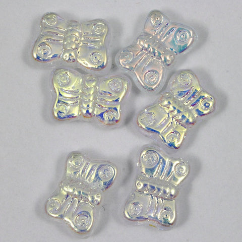 8mm Crystal AB Glass Butterfly-General Bead