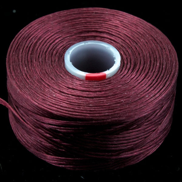 Burgundy Superlon Nylon Size D Thread #LNB005