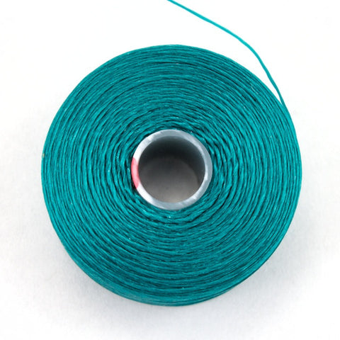 Teal Superlon Nylon Size D Thread #LNB011-General Bead