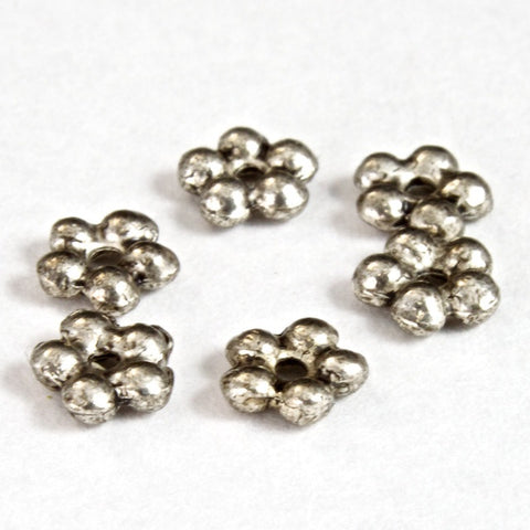 5mm Silver 5 Petal Spacer Bead #MBB114
