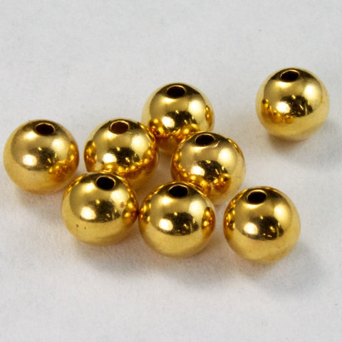 4mm Round Goldplate Bead