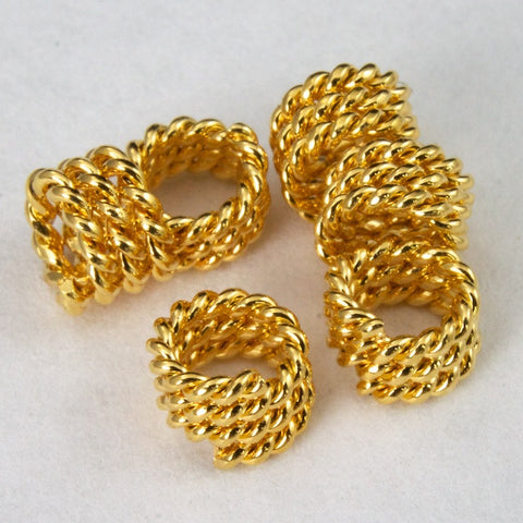 5mm Gold Twist Coil Bead