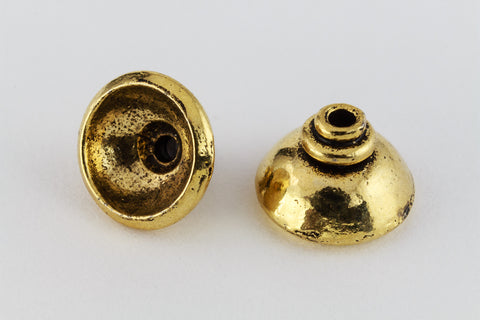 10mm Antique Gold Bead Cap #MCA055