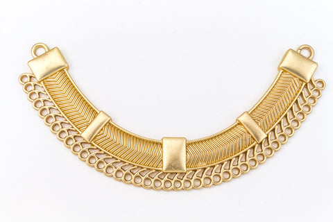 109mm Matte Gold Contemporary Collar Pendant with 43 Loops #MFA167
