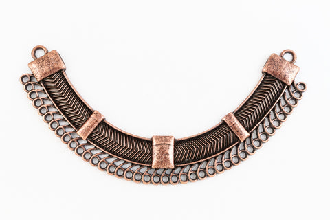 109mm Antique Copper Contemporary Collar Pendant with 43 Loops #MFC167