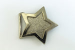 "2.75"" Silver Star Belt Buckle #MFB076-General Bead"