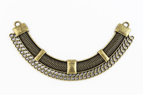 109mm Antique Brass Contemporary Collar Pendant with 43 Loops #MFD167