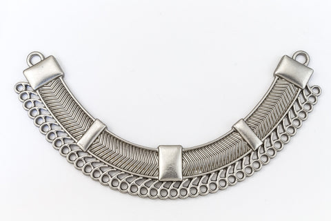 109mm Matte Silver Contemporary Collar Pendant with 43 Loops #MFB167