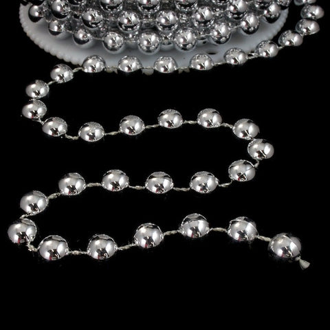 8mm Silver Bead Garland