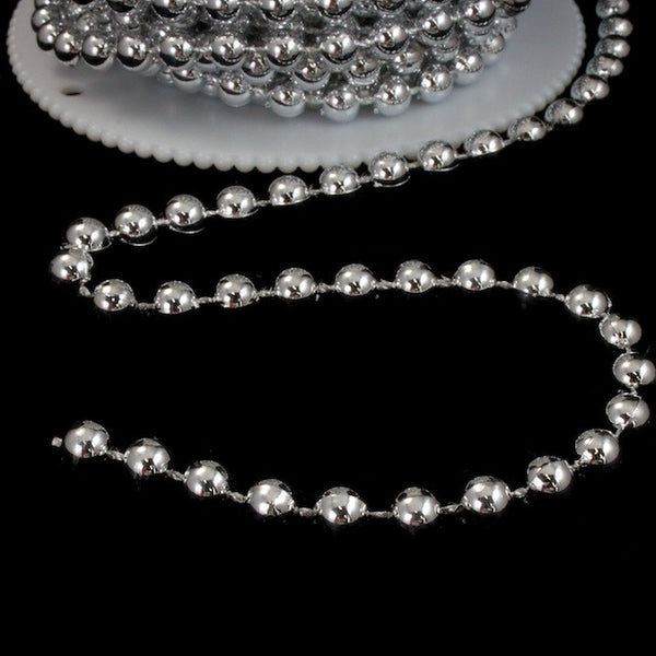 6mm Silver Bead Garland