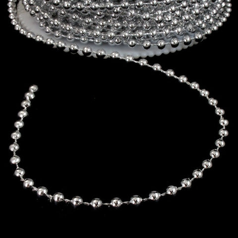 4mm Silver Bead Garland