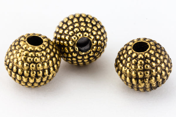 6mm Antique Gold Round Sand Bead #MPD014