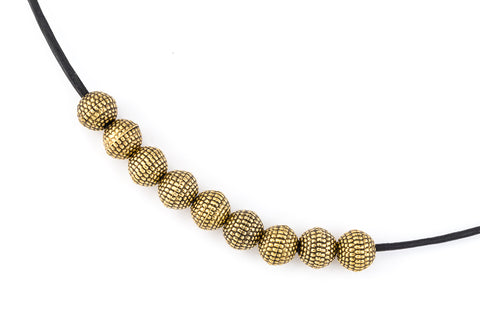 6mm Antique Gold Round Sand Bead #MPD014-General Bead