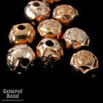 6mm Bright Copper Rose Bead #MPE015-General Bead