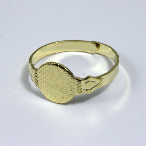 Adjustable Gold Ring Base w/ 10mm Pad