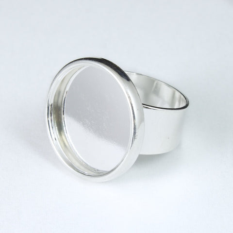 30mm Silver Tone Ring Base #MRC017