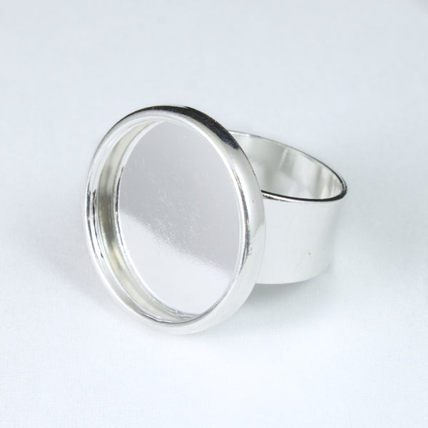25mm Silver Tone Ring Base #MRB017