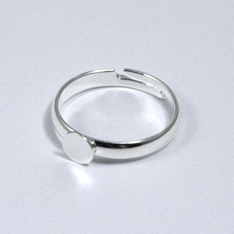 Small Silver Ring Base-General Bead