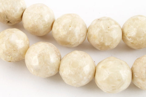8mm Natural Fluvial Faceted Round Polished Bead-General Bead