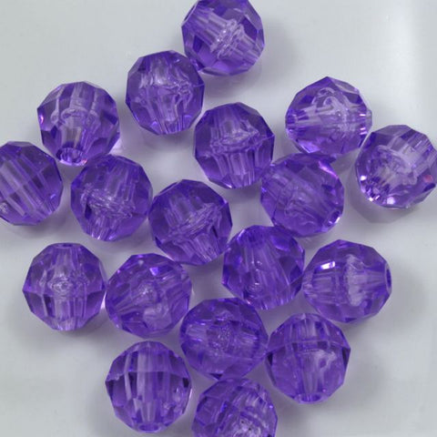 Beadery Transparent Amethyst Faceted Round Beads (6mm, 8mm, 10mm)-General Bead