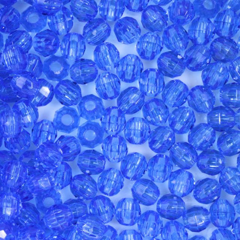 Transparent Dark Sapphire Quality Plastic Faceted Bead-General Bead
