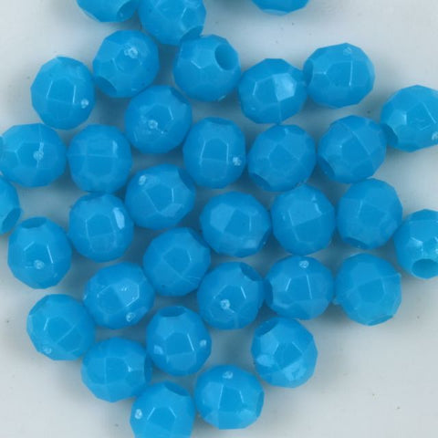 Turquoise Quality Plastic Faceted Bead-General Bead