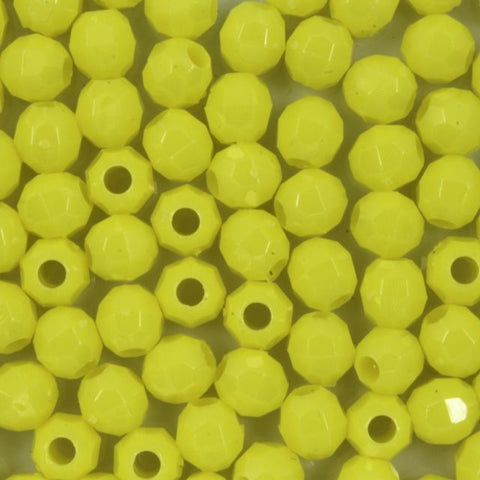 Yellow Quality Plastic Faceted Bead-General Bead
