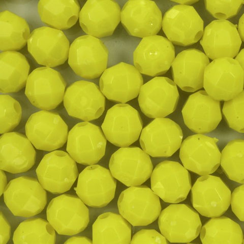 Quality Opaque Yellow Plastic Bead-General Bead