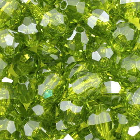 Transparent Olive Quality Plastic Faceted Bead-General Bead