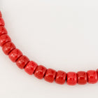 6mm x 9mm Red Pony Plastic Craft Bead #QUA002-General Bead