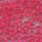 6mm x 9mm Transparent Pink Pony Plastic Craft Bead-General Bead