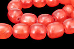 "16"" Strand 16mm x 15mm Red Barrel Resin Beads (27 Pcs) #RES108"