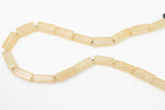 "16"" Strand 22mm x 7mm Champagne Rectangle Resin Beads (18 Pcs) #RES507"