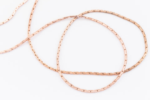 0.65mm Rose Gold Filled Beading Chain #RGQ089-General Bead