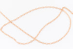 1.5mm Rose Gold Filled Round Cable Chain #RGU089-General Bead