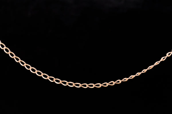 2mm Rose Gold Filled Long Curb Chain #RGZ089