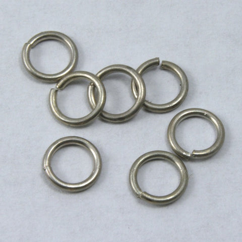 6mm Antique Silver Jump Ring 21 Gauge #RJA024-General Bead