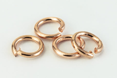 4mm Rose Gold Jump Ring 21 Gauge #RJR023-General Bead