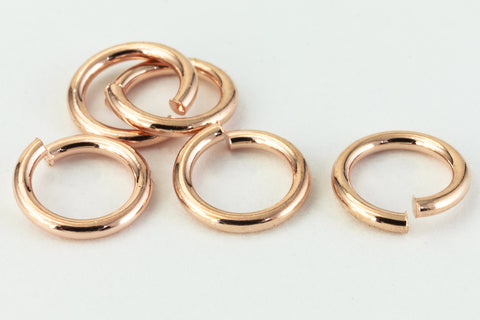 6mm Rose Gold Jump Ring 21 Gauge #RJR026-General Bead