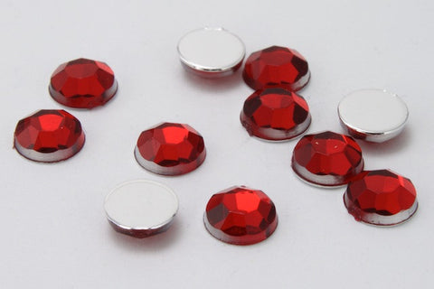 2088 Style Ruby Acrylic Flatback Rhinestones (20ss, 30ss, 40ss, 48ss, 62ss)-General Bead