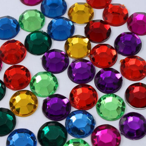 Acrylic Multi-Color Mix Flatback Rhinestones