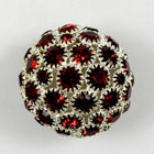23mm Siam/Silver Rhinestone Ball-General Bead