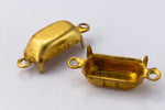 5mm x 10mm Raw Brass Baguette Setting (2 Pcs) #SET017
