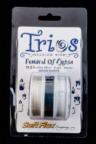 "Soft Flex Trios- ""Festival of Lights"" Medium-General Bead"