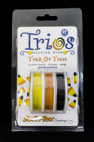 "Soft Flex Trios- ""Trick Or Treat"" Medium-General Bead"